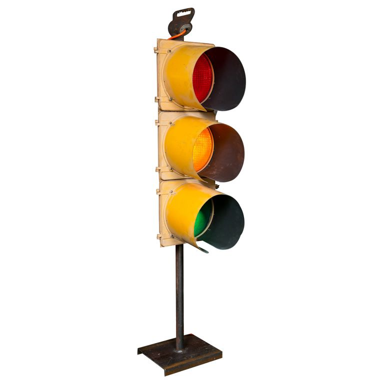Vintage Traffic Light Red No Computer Today Yellow Computer But Later On Green Straight To Work Setting Routines New York Decor Traffic Light Vintage