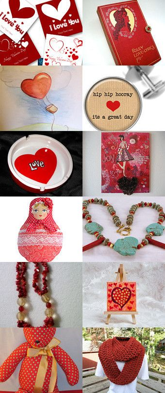 Red Love. by Iridonousa on Etsy--Pinned with TreasuryPin.com