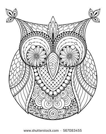 birds theme owl black and white mandala with abstract ethnic aztec ornament pattern owl tattoo. Black Bedroom Furniture Sets. Home Design Ideas