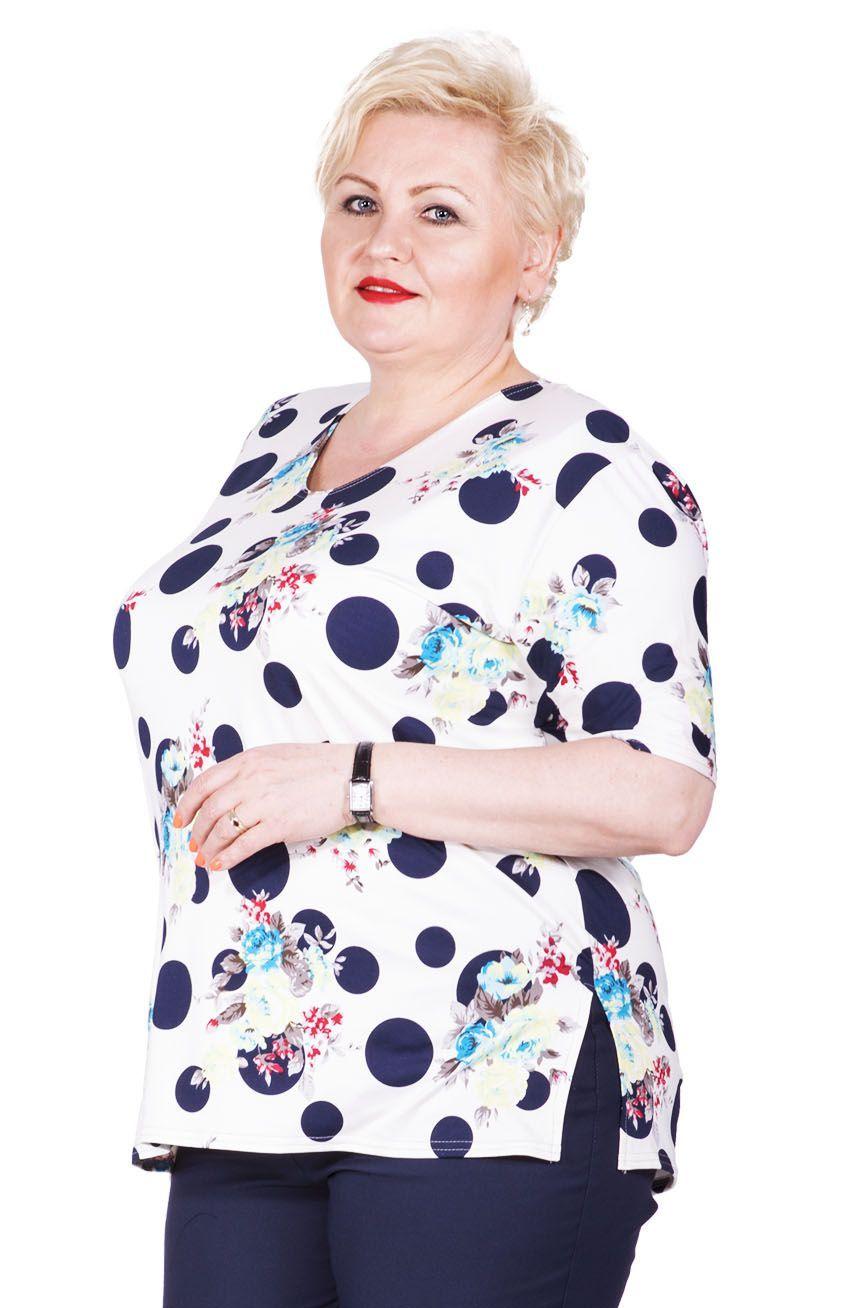 Biala Bluzka W Kropki I Kwiaty Fashion Mens Tops Shirt Dress