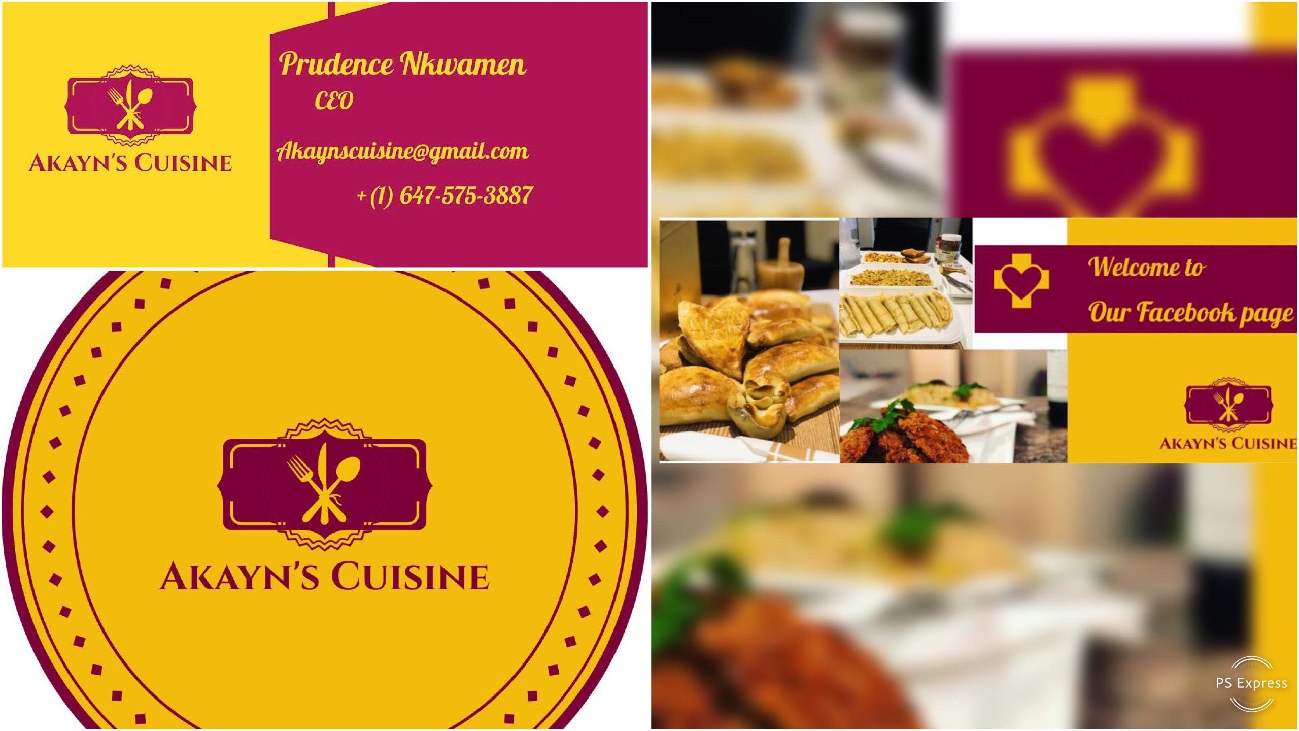 KINGDOM GRACE PROUD BUSINESS SPONSOR - AKAYN'S CUISINE IN TORONTO, ON CANADA