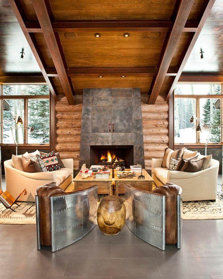 Rustikale Wohnzimmer   eine gemütliche rustikale Einrichtung für das Wohnzimmer   Rustikales ...