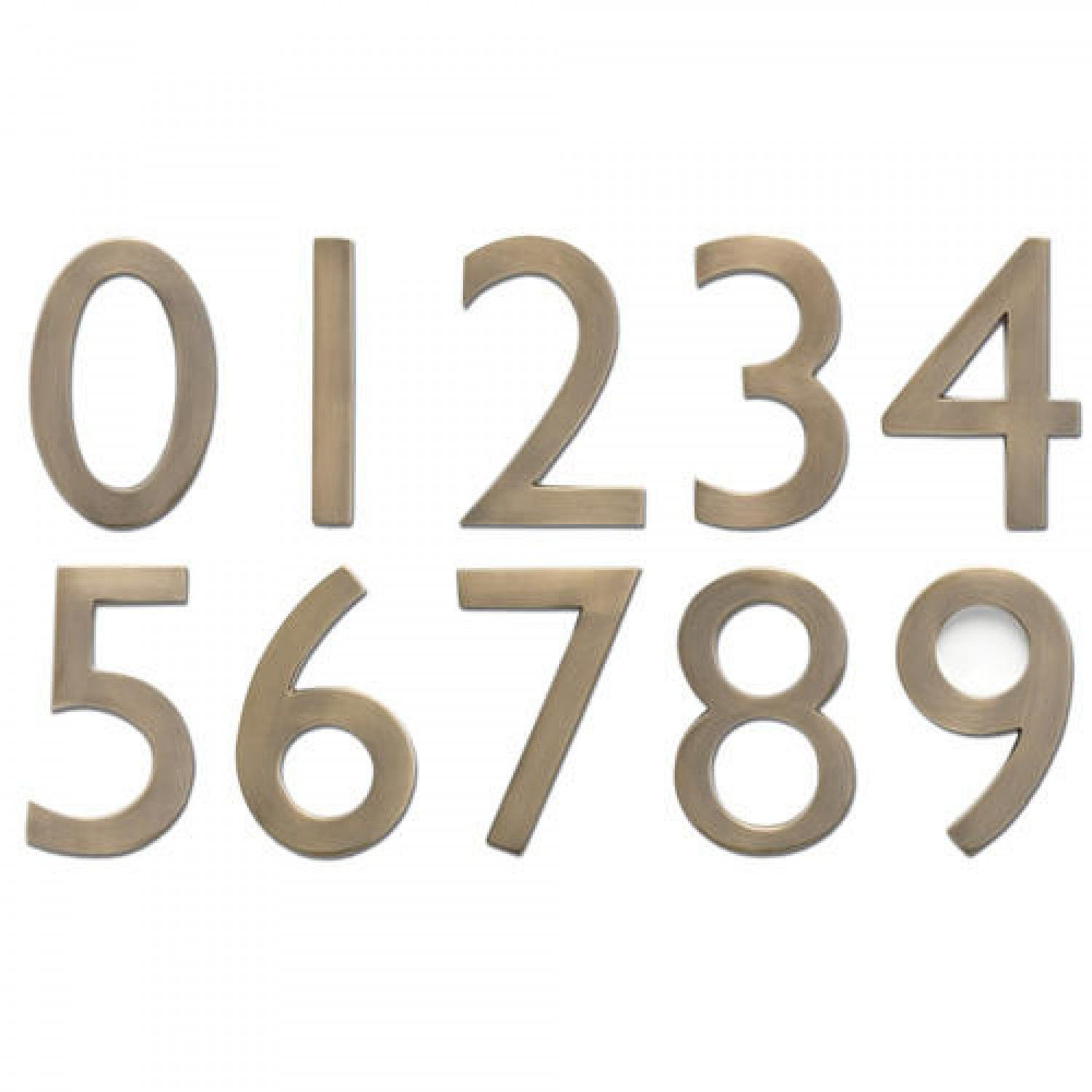 Solid Brass Floating House Numbers Address Plaques And House Numbers Outdoor House Numbers Traditional House Numbers Floating House