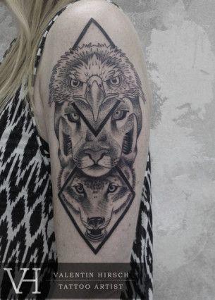 Valentin Hirsch Tatuagem Aguia Totem Tattoo Ideias De Tatuagens