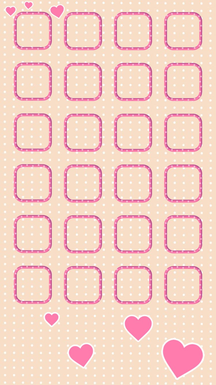 Tap and get the free app shelves icons cute simple girly pink shelves icons cute simple girly pink light for girls pretty polka dot heart hd iphone 6 wallpaper voltagebd Images