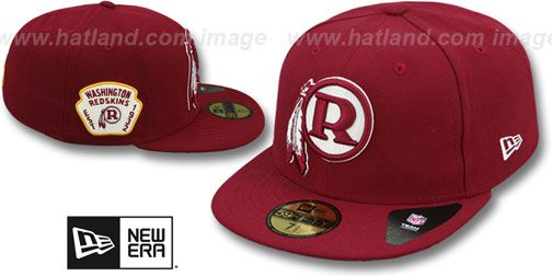 911067c1 Redskins 'THROWBACK SIDE TEAM-PATCH' Burgundy Fitted Hat by New Era ...