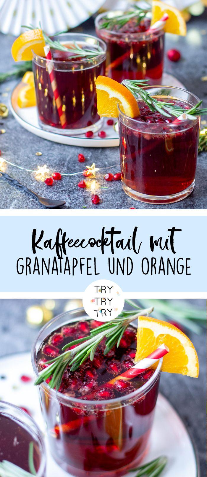 alkoholfreier cold brew coffee cocktail mit granatapfel. Black Bedroom Furniture Sets. Home Design Ideas