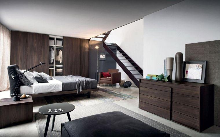 muebles de madera oscura en el dormitorio moderno | Casa | Pinterest ...