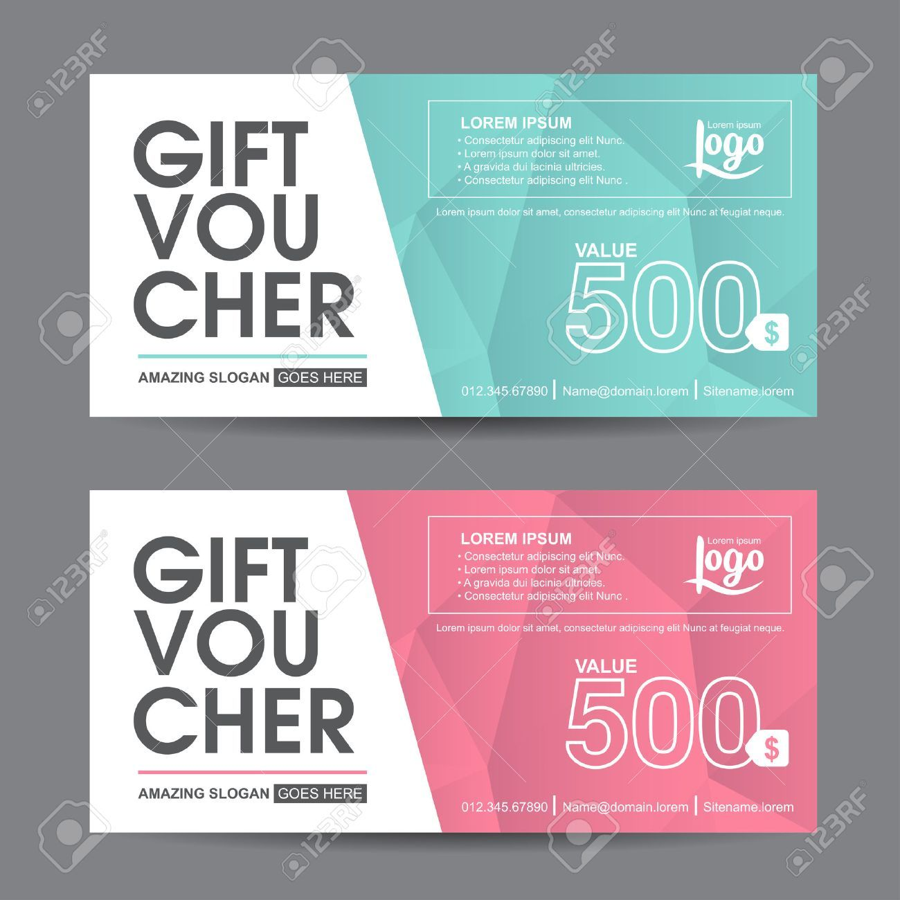 Gift voucher template with colorful patterncute gift voucher gift voucher template with colorful patterncute gift voucher certificate coupon design template collection gift certificate business card banner calling yelopaper Gallery
