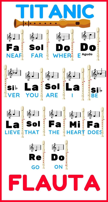 Titanic En Flauta Dulce Notas De Canciones Notas Musicales En Flauta Canciones Flauta