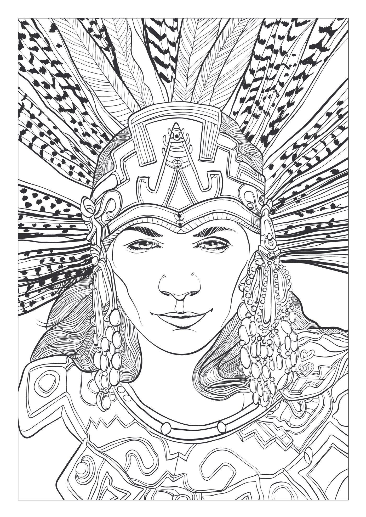 Mayas et azt ques 100 coloriages anti stress michel solliec katherine - Dessin azteque ...