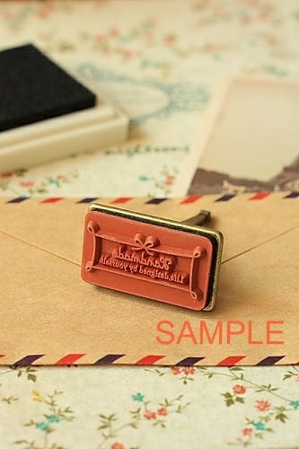 Antique Style Metal Eiffel Tower Stamp - Handmade