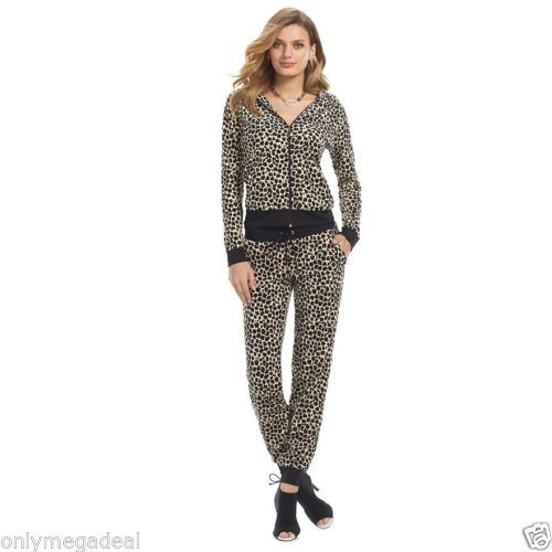 NWT-Juicy-Couture-Womens-Velour-Tracksuit-Animal-Print-Leopard-size ... 137ed2d633