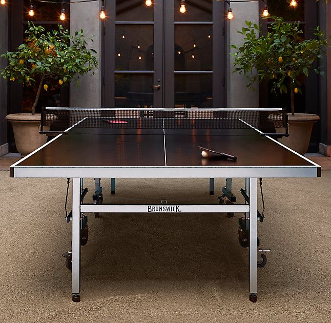 Rh S Brunswick Indoor Outdoor Tournament Table Tennis Originally An 1880s Parlor Game Of The British Table Tennis Outdoor Table Tennis Table Table Tennis Room Indoor outdoor ping pong table