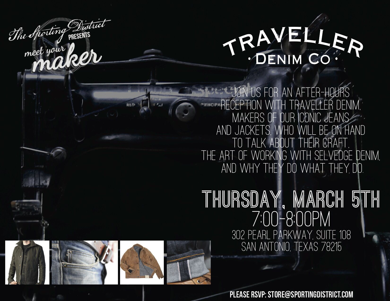 The Sporting District presents Meet Your Maker featuring Traveller Denim Co. #JCREDdesigns #Graphics #design #idea