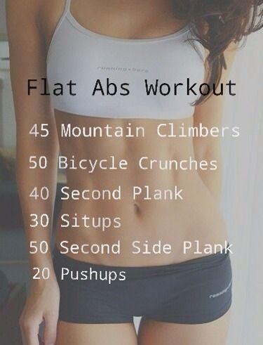 Flat abs workouthealthfitnesstruspertip fitness pinterest explore flat abs workout core workouts and more ccuart Images