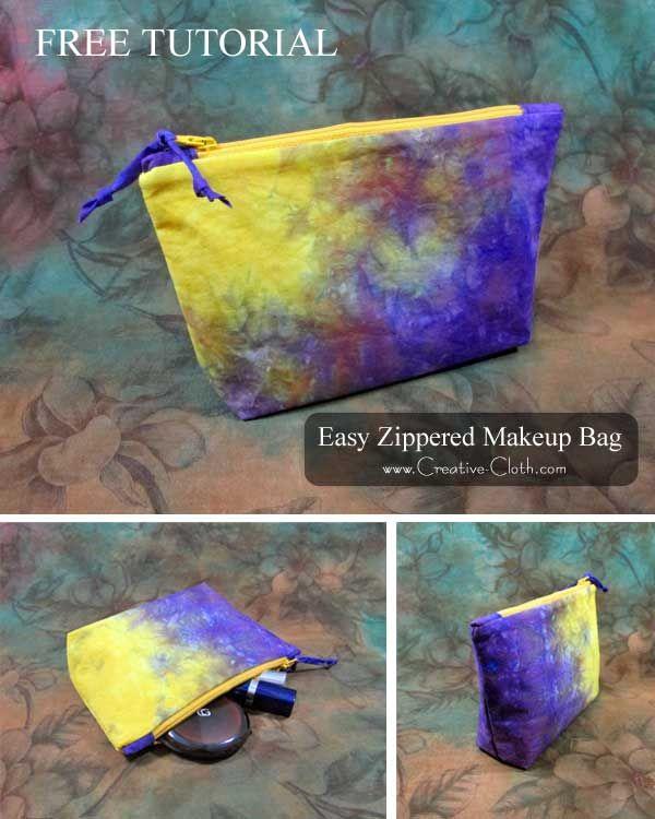 How To Make An Easy Zippered Makeup Bag