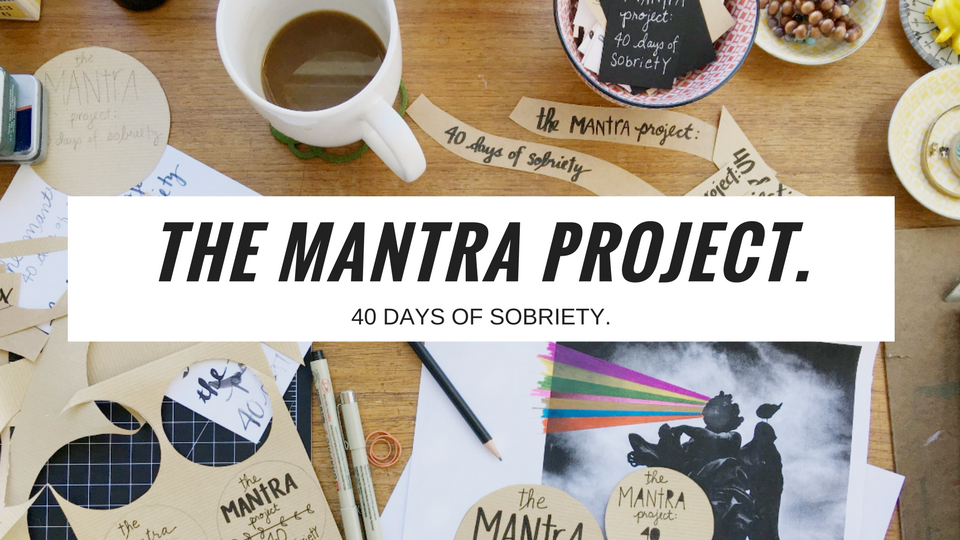 The Mantra Project: 40 Days Of Sobriety is a 40-day email sequence designed to help you make subtle shifts in your thinking as you are navigating sobriety. The course is based on principles and practices used in Hip Sobriety School and is meant to hold your hand and guide you over a six-week period to make very real and simple changes in your life to support your recovery. With artwork by Tammi Salas and words by Holly Whitaker.