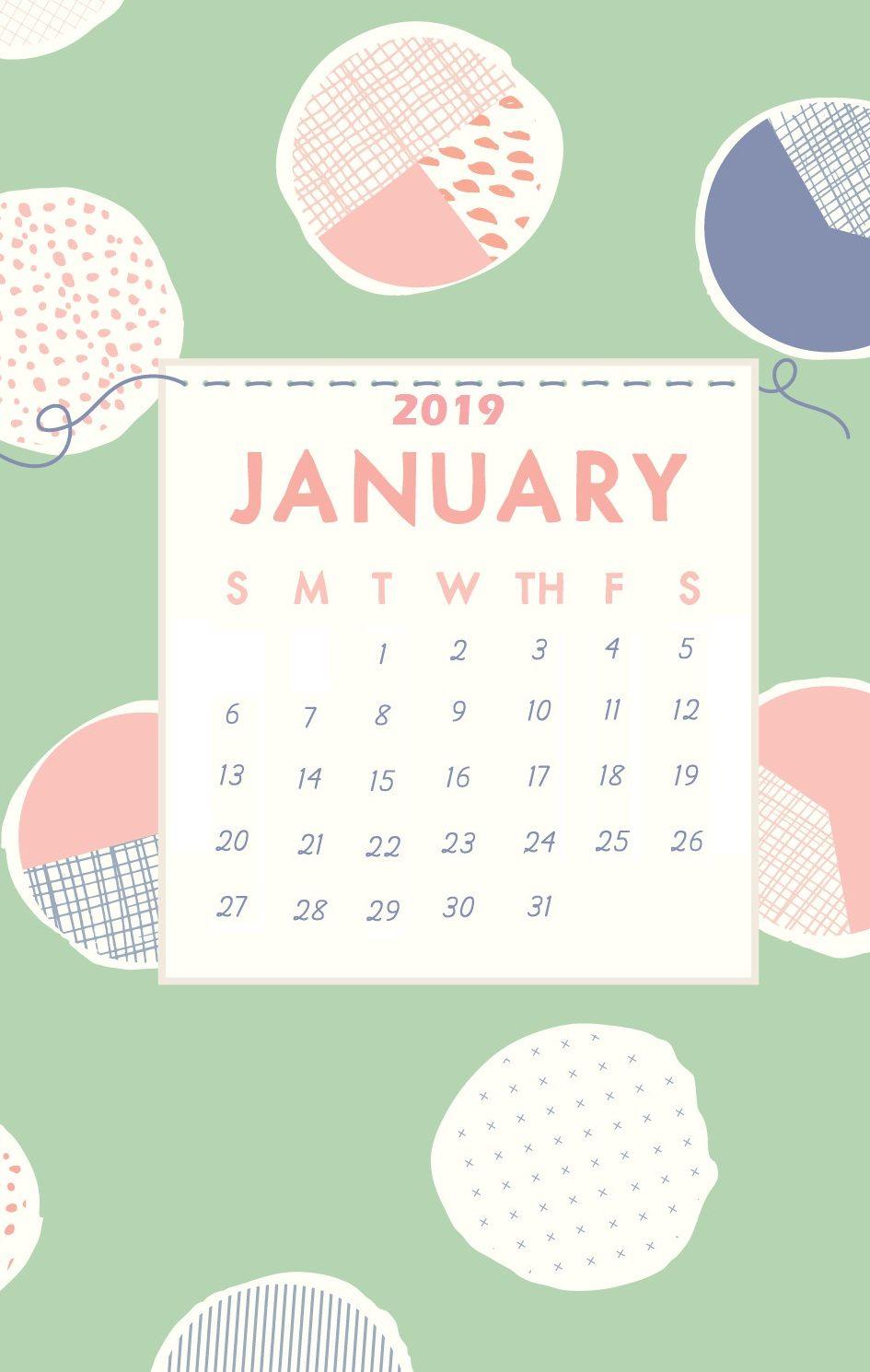 January 2019 Iphone Cute Wallpaper Calendar Wallpaper January Wallpaper Wallpaper