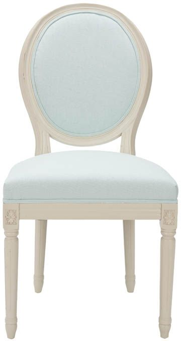 Merveilleux Paris Oval Side Chair In Robinu0027s Egg Blue From Safavieh