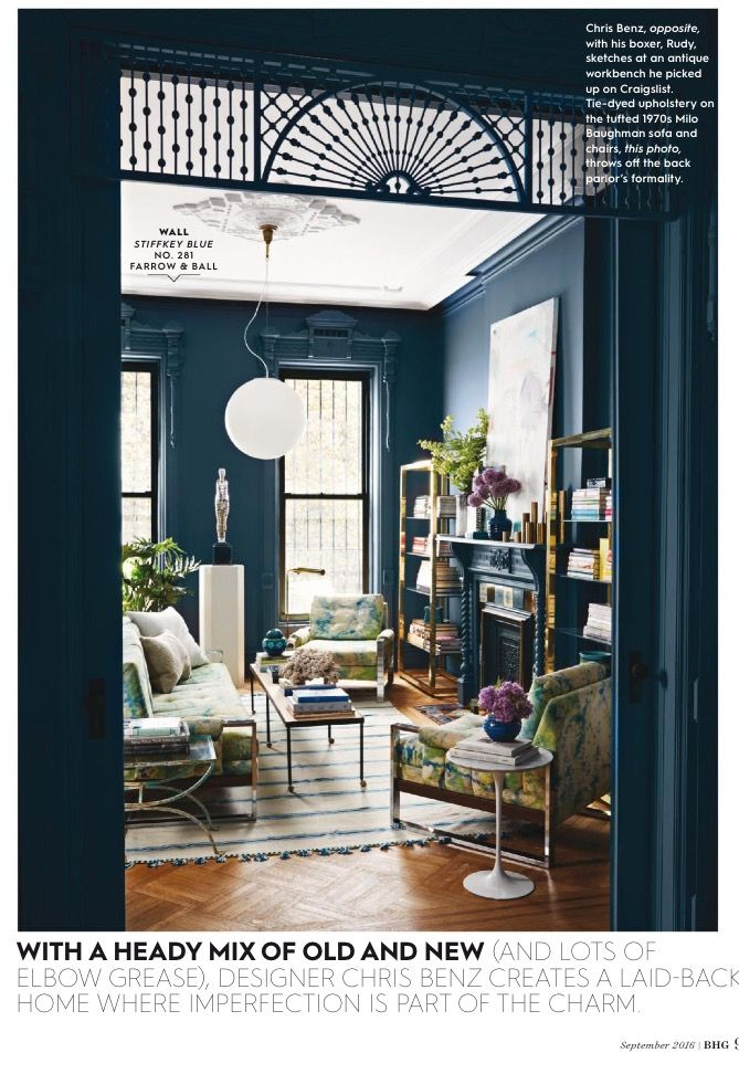 Designer Chris Benz In Better Homes And Gardens Magazine Brownstone Interiors Home Decor Home