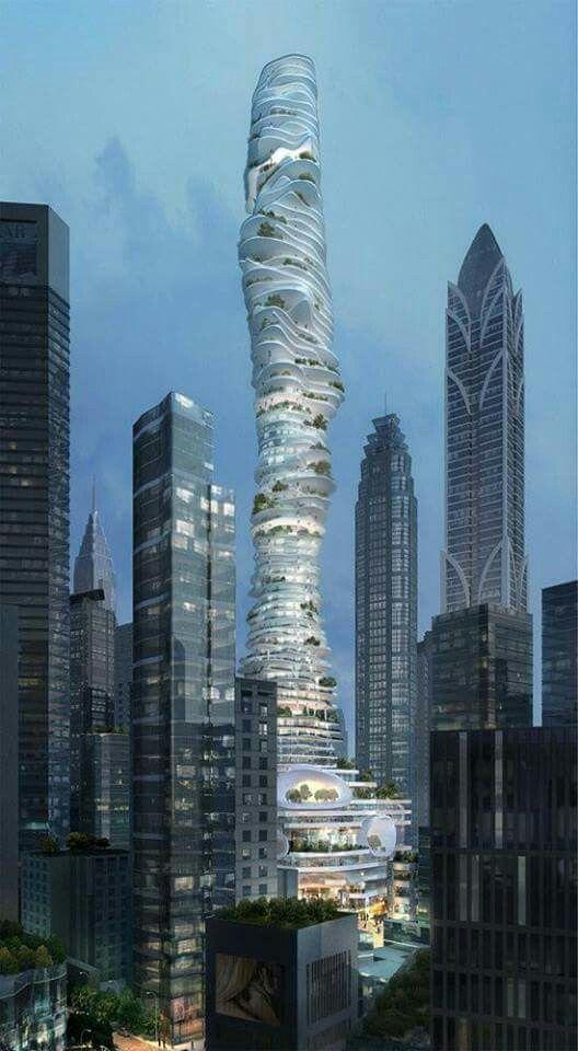 Pin by dana applestein on architecture pinterest architektur hochhaus and futuristische - Futuristische architektur ...