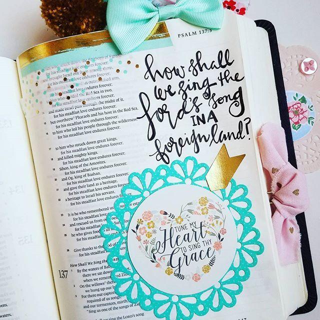 Psalm 137 4 Maker Mom Bible Journaling All Pinterest