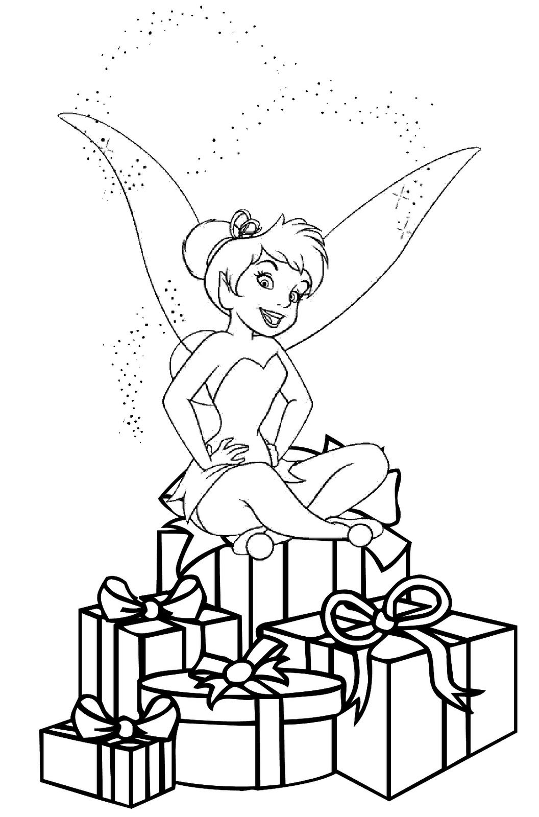 christmas coloring pages CHRISTMAS FAIRY COLORING PICTURE