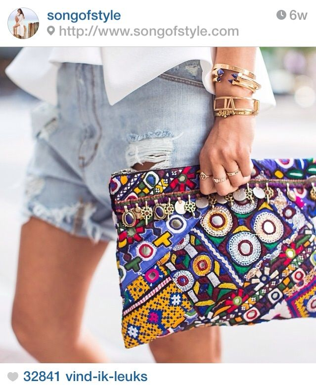 Instagram inspiration - Fashion - Streetstyle - Festival - Boho - Bohemian - Clutch - Statement