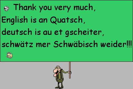 Lustige Schwäbische Wörter
