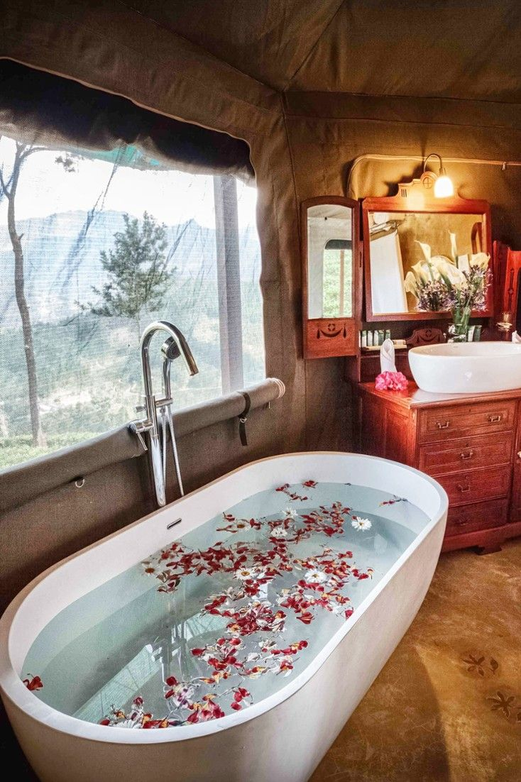 All bathrooms feature a walk-in shower; some come with a deep ...