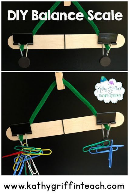 Diy Balance Scale Kids Can Make For Home Or In The Classroom A Fun Learning Activity For Kindergarten Kids And Fun Science Science For Kids Preschool Science