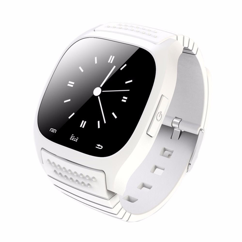 WHITE M26 Waterproof Smart Wrist Watch Phone Mate For
