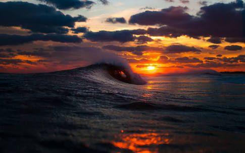 lightning storm on ocean during sunrise - Google Search