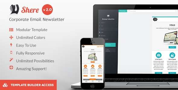 180 Absolute Best Responsive Email Templates Shere Corporate
