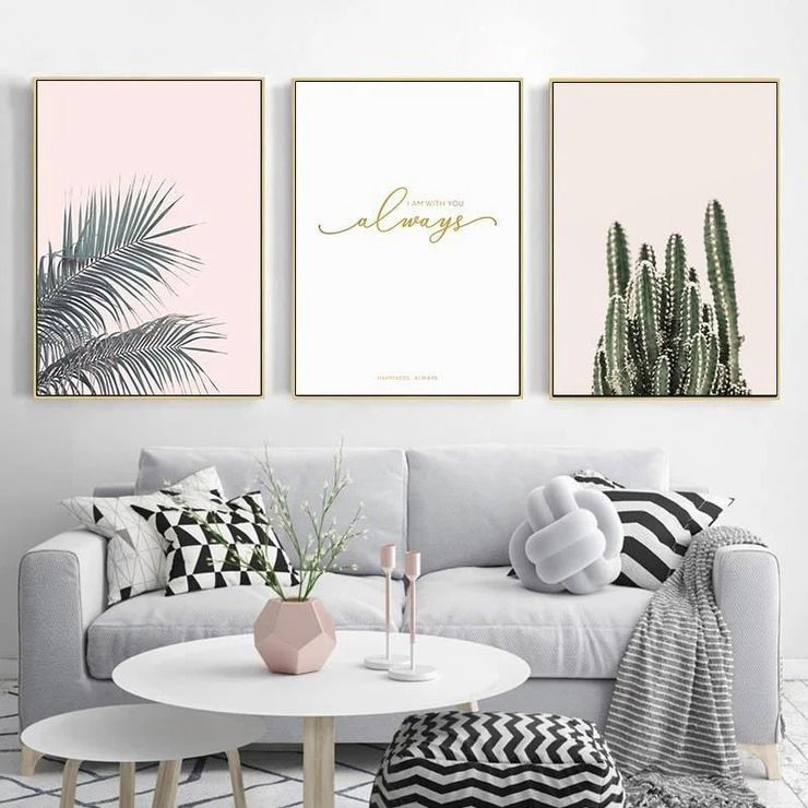 Refresh your decor with our gorgeous Beach House Art Prints that will bring positive vibes to your home and make you feel relaxed. 🌸  #wallart #canvasprint #artprint #oceanprint #pinkwallart #pink #cottoncanvas #modernroom #canvas #palms #cacti #beachhouse