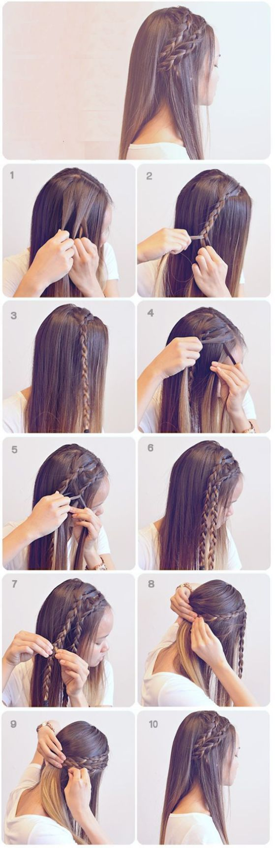 Peinados con Trenzas fáciles tutoriales paso a paso Hair style