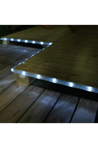3m White Outdoor Solar Led Rope Light
