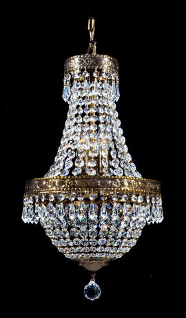 Regency Empire Small 6 Light Chandelier with Crystal Spears