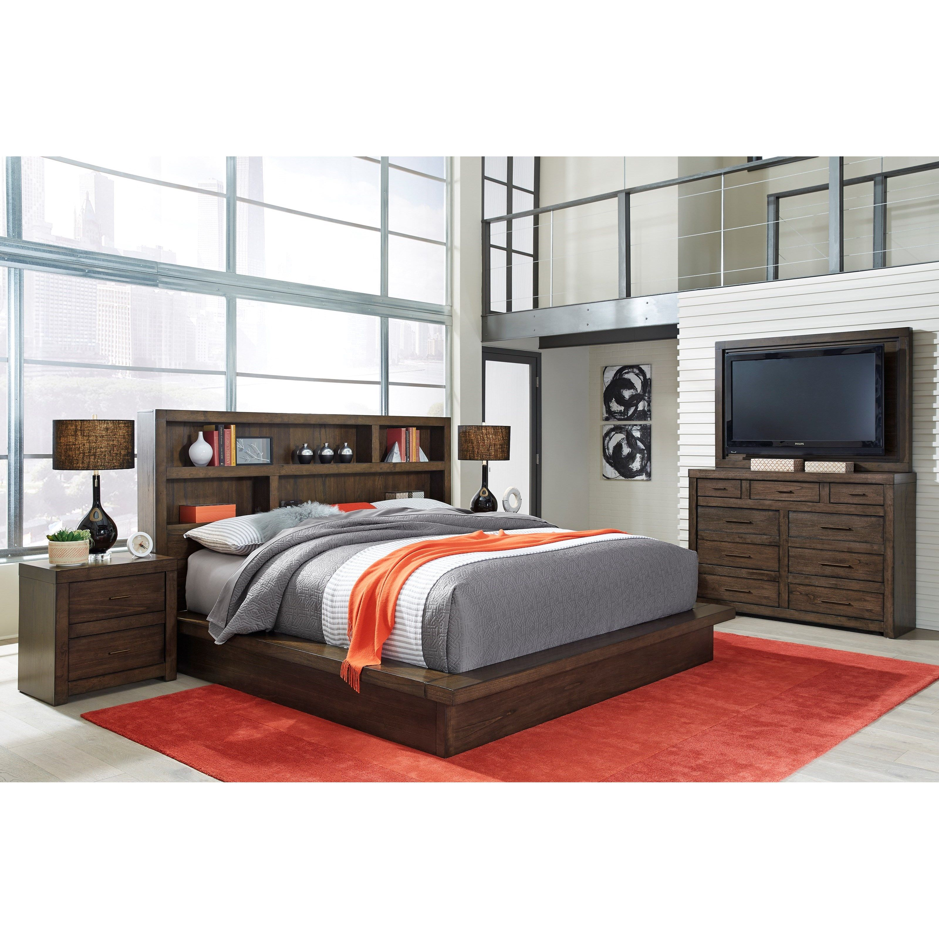 Best Modern Loft California King Bedroom Group By Aspenhome 400 x 300