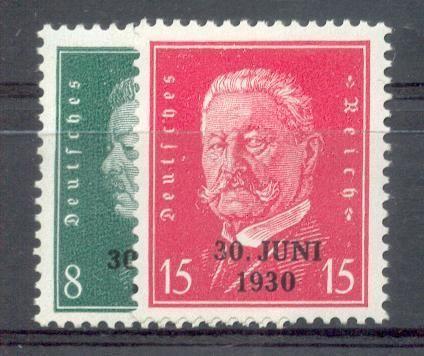 DR 1930 rheinlandbefreiung aufdruck MiNr 444-445