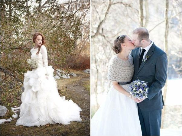El punto cálido de una boda de invierno
