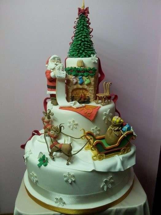 Idee Decorazioni Torte Di Natale Torta Gigante Di Natale