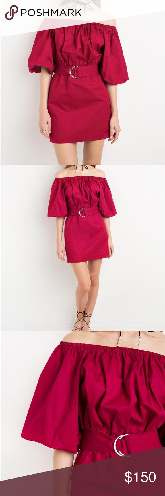 Red margo pixie market offshoulder dress s new reformation