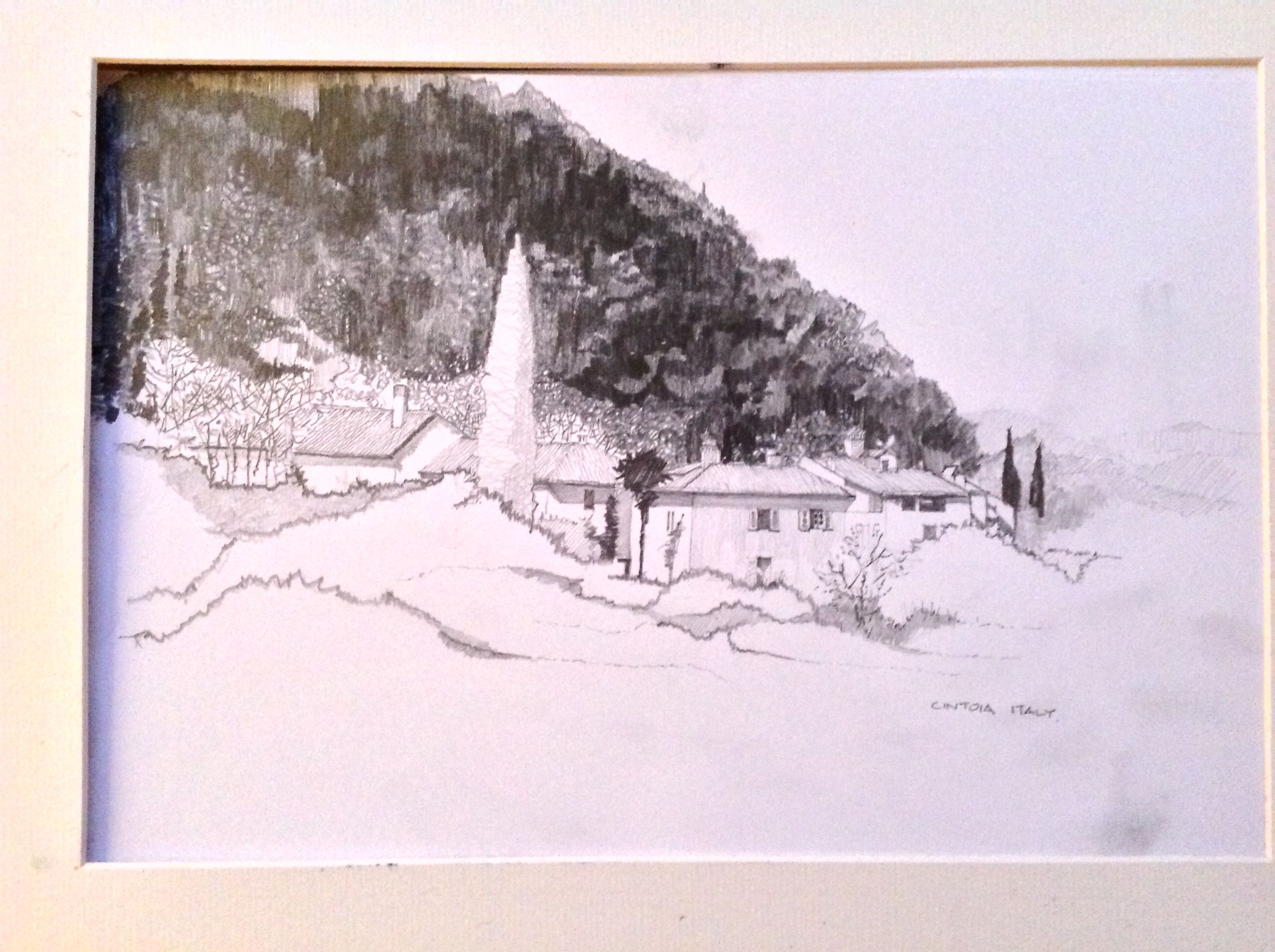 Pencil sketch Cintoia Valley near Florence (With images ...