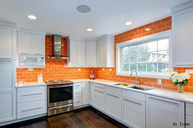 Best Bold Tile Design Ideas For Your Kitchen Orange Kitchen 400 x 300
