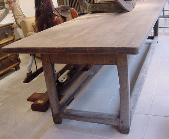 antique tables   large century refrectory kitchen table with 2 plank pine top and oak base  antique kitchen table   furniture   pinterest   oven ideas      rh   pinterest com