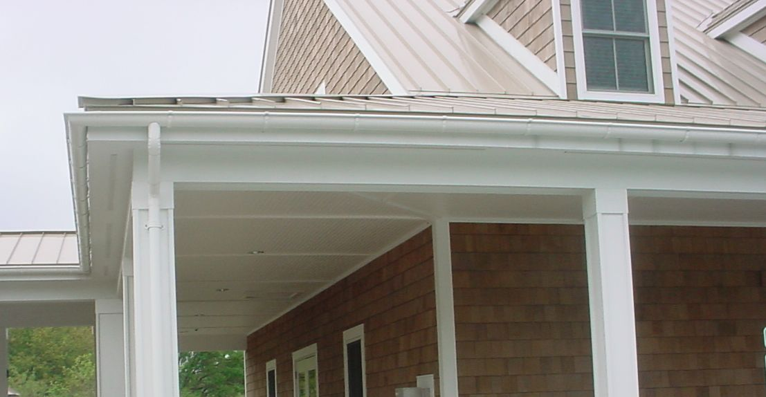 I love the shape of these roof gutters. The shape of them, with the rounded edges is really pretty. Our gutters are really beat up, so it'd be nice to get new ones.