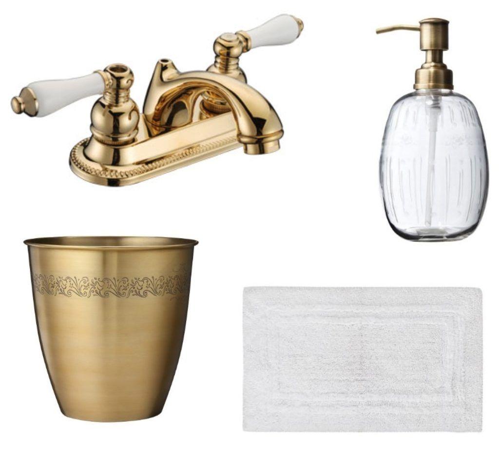 Vibrant brushed bronze bathroom accessories