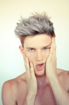 Blonde And Silver Hair Men Google Search Men Hair Highlights